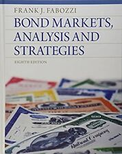 Bond Markets Analysis and Strategies by Frank J. Fabozzi