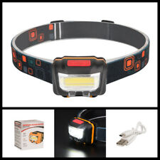 COB LED Inductive Switch Headlamp Rechargeable Headlight Outdoor Head Torch Lamp