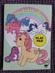 My Little Pony G1 Vintage Retro UK Play Pad Notebook Activities Colouring