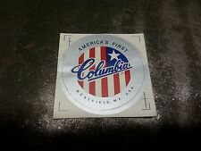 Columbia bicycle head tube sticker  Red-OR-Silver ring NOS #011A