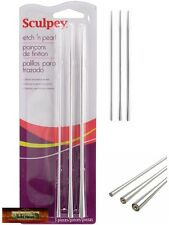 M00303 MOREZMORE Polyform Sculpey Etch 'N Pearl Metal Needle Tools A60