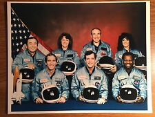 Space Shuttle STS Mission 51-L Challenger 01-28-86 Official NASA Photograph Crew