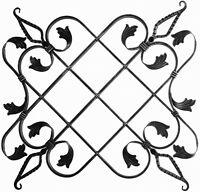 Rosette für Gartenzaun Geländer Zaun Tor Tür 027 Ornament Schmiedeeisen Pforte