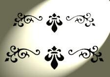 Shabby Chic Meubles Stencil damassée tiroir détailleurs A4 297x210mm Designs B