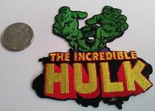 The Incredible Hulk Embroidered Iron On Patch (Superhero, Marvel Comics, New)