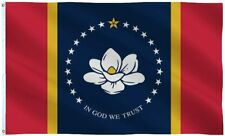 3x5FT The New Magnolia Mississippi Flag In God We Trust MS