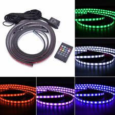 4X LED Fernbedienung Atmosphäre Licht Streifen Wasserdicht für Auto Fußraum