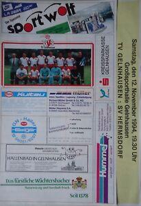 Programm Handball 12.11.1994 TV Gelnhausen - SV Hermsdorf