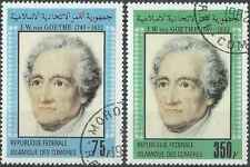 Timbres Personnages Goethe Comores 366/7 o lot 23794