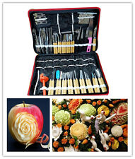 80pc/set Portable Vegetable Food Fruit Kitchen Carving Tool Kit + hop-pocket Z04
