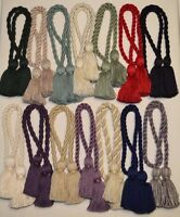 """Curtain & Chair Tie Back -28""""spread with 3.5""""tassels - 15 colors to choose from!"""