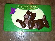 Maurice Sendak's Little Bear Plastic Box Play Container So Cute!  HTF!!!