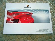 PORSCHE 911 991 CARRERA SERIES TEQUIPMENT PRESTIGE BROCHURE 2012 USA EDITION