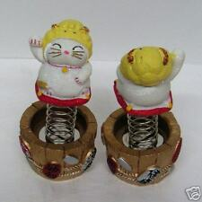 Maneki Neko Cat 12 Zodiac Bobble Head Lucky Cat - Ram