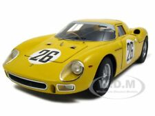 ELITE 1965 FERRARI 250 LM #26 DUMAY/GOSSELIN YELLOW 1:18 CAR BY HOTWHEELS P9901