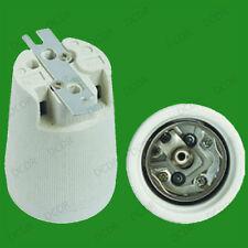 Porzellan Keramik E40 Glühlampe Lampenfassung mit Halter Metall 40mm Schraube