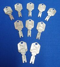 Made in Usa! 10 Quality Forklift Ignition Hyster Clark Yale Keys Free Shipping!
