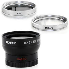 Albinar 37mm Wide Angle Lens, CPL, MCUV Filters for Sony HDR CX160 CX130 XR160