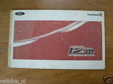 FORD 12M 1968 ?   HANDLEIDING OWNERS MANUAL,INSTRUCTION BOOK