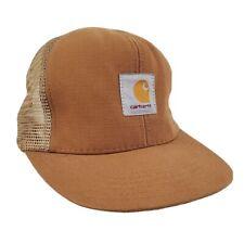 Vintage Carhartt Mesh Canvas Trucker Hat Cap Snapback Workwear Outdoors Made USA