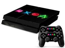 Sony PS4 Playstation 4 Skin Design Aufkleber Schutzfolie Set - PS Buttons Motiv