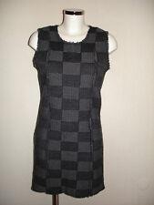 Sisley Damen Winterkleid Wolle M 36/38 Etuikleid Stiefel Strickkleid Karomuster