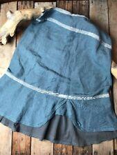 Neesh by D.A.R. Women's Boutique A-Line Skirt Linen Grey Tiered Sz M AA44 FLAW