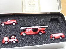 Schuco Piccolo B66042531 4er-Set MB Werksfeuerwehr Untertürkheim OVP (y5863)