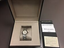 bulgari BVLGARI Mother of Pearl Diamond Dial Stainless Steel 26mm Ladies watch
