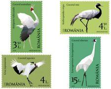 Cranes Birds mnh set of 4 stamps 2017 Romania