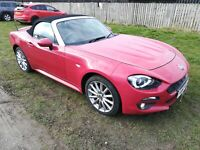 FIAT 124 SPIDER LUSSO PLUS MULTIAIR RED ONLY 14,358 MILES FULL MOT NO RESERVE