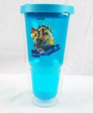 Nintendo Mario Kart Plastic Tumbler On the Go Teal/Blue Sweat Proof New
