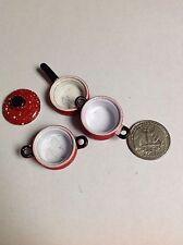 Dollhouse miniature Red Kitchenware