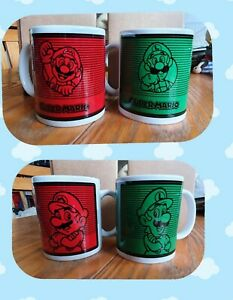 Set Of Super Mario Bros Mugs. BNIB. Great Gift Idea. 1 Red Mario. 1 Green Luigi