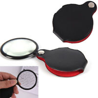 Folding 10X Mini Pocket Jewelry Magnifier Magnifying Eye Glass Loupe Lens## YK