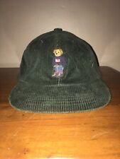 Vintage Polo Ralph Lauren Green Corduroy Beat Strapback Hat 90s NWT