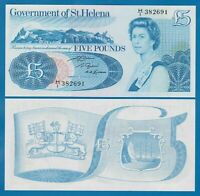 5 Pounds St.Helena 1979 P 7b / UNC /  3 banknotes and big banknote