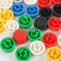 140PCS Round Tactile Button Caps Kits 9.58*5.1mm for 12*12*7.3mm Tact Switch