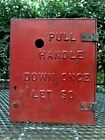 Antique Telegrapgh Fire Alarm Box Pull Handle Once, GAMEWELL?  Heavy Cast Iron