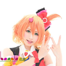 Macross Freyja Wion ombre yellow pink Cosplay Wig+Free wig cap+Free shipping