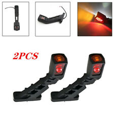2PCS LED Truck Side Signal Lamp Marker Light Red & Yellow & White Universal Lamp