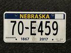 "Nebraska License Plate ""70-E459"" ..... 1867-2017 150 YEARS OF STATEHOOD GRAPHIC"