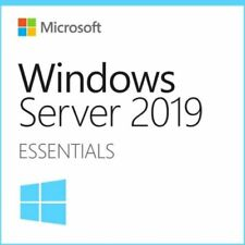 Microsoft Windows Server 2019 Essentials | 1 Server | Full Retail COA w/ MS USB