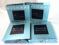 LOT OF (4) BVLGARI AQVA POUR HOMME MARINE EDT SPRAY SAMPLES - 0.05 oz.ea.