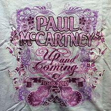 PAUL MCCARTNEY UP AND COMING 2010 TOUR LADIES LARGE PINK/PURPLE SHIRT BEATLES