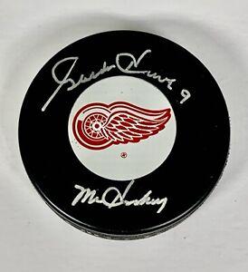 Gordie Howe Signed Logo Hockey Puck Inscribed Mr. Hockey Autographed Altman Howe