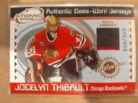 2001-02 Pacific Atomic Game-Worn Jerseys #10 Jocelyn Thibault sp 228/328