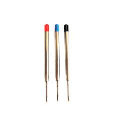 Delta Ballpoint Pen Refill - Medium Blue Black and Red Premium Refills
