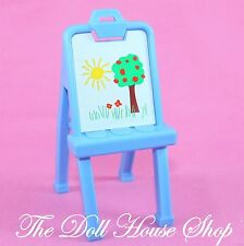 Kids Playroom Blue Easel Art Stand Fisher Price Loving Family Dream Dollhouse