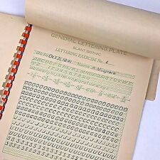 Vintage 1941 Effective Lettering Practice Gothic Roman Text Engineers Draftsman